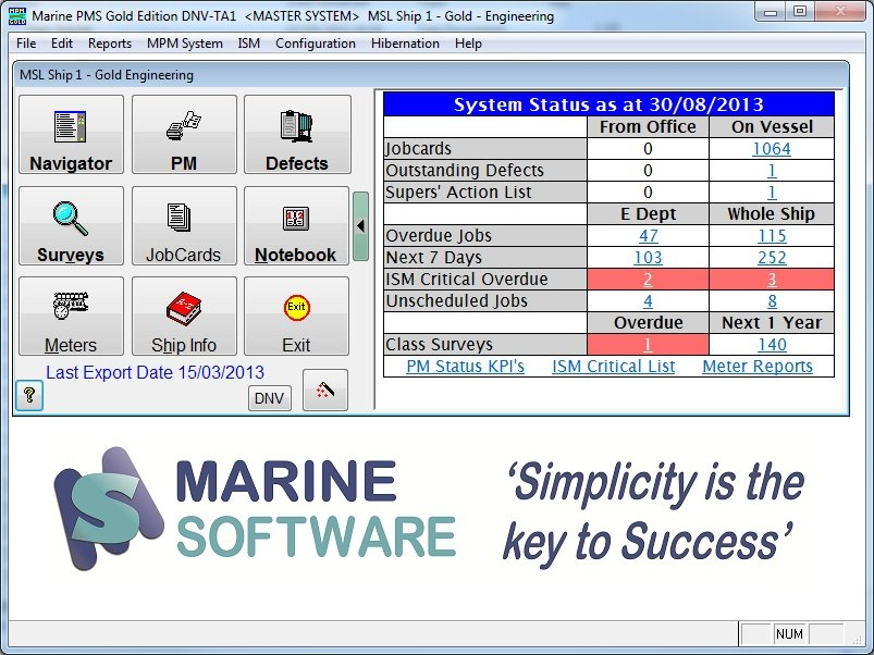 the marine purchasing system displays key information to highlight requisitions out for quotation awaiting approval and all outstanding purchase orders
